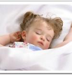 صورة لطفلة نائمة