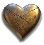 صورة قلب نحاسي