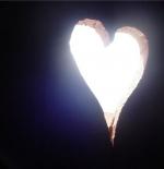 صورة قلب مضيء