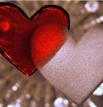 صورة قلبان