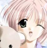 صورة انمي مع الدب