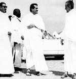 صورة الملك فيصل وفهد وعبدالله في الحج
