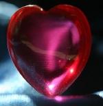 صورة قلب زجاجي