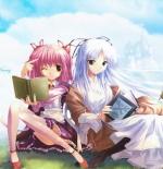 صورة انمي مع صديقتها