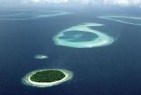 صورة من الجو للجزيرة