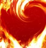 صورة قلب النار