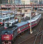Train Lines Behind Station Melbourne