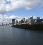 Brisbane, City Centre as seen from Footbridge