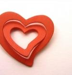 صورة قلب من خشب