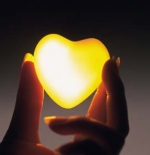 صورة قلب أصفر