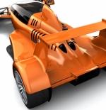 صورة سيارة فراري باللون البرتقالى