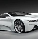 سيارة بيضاء حديثة جدا