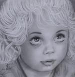 صورة رسم طفلة جميلة