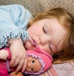 صورة الطفلة النائمة
