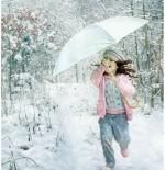 صورة طفلة والمظلة