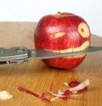 صورة تفاحة غريبة