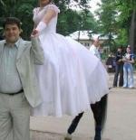 صورة العروسة واقدام الحصان