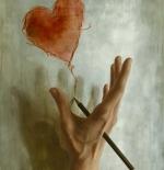صورة قلوب رسم