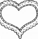 صورة قلب ابيض واسود