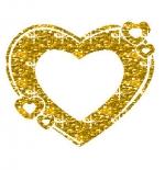 صورة قلب ذهبي