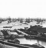 صورة لميناء الإسكندرية سنة 1872 م