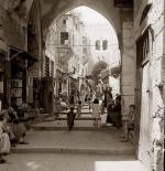 صورة قديمة لاسواق فلسطين