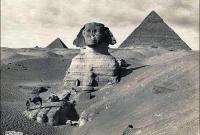صورة قديمة للاهرامات وابو الهول