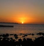 Sunset Over Pereybere Lagoon
