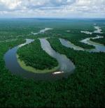 تعرجات نهر الأمازون قرب مدينة مناؤس
