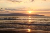 sunset at Little Beach