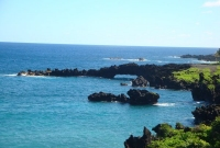 view from Black Sand Beach