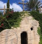 قبر في الحديقة