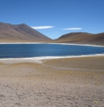 The Andes mountain lake