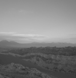 The Andes mountains behind the desert
