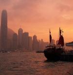 غروب الشمس في هونج كونج