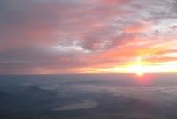 صورة شروق الشمس من اعلى جبل فوجي