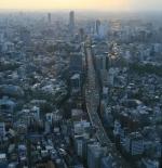 صورة لمدينة طوكيو من الاعلى