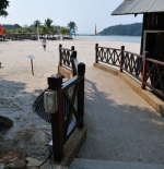 Pathway to the beach at the Berjaya Langkawi Resort, Malaysia