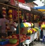 flower stall for hindu religion