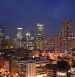 Skyline of Makati City seen at night