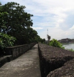 the wall of Fort Santiago