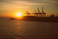 غروب شمس مدينة مانيلا