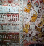 frescoes in the cave temple Dambulla