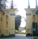 entrance to Hellbrunn Palace