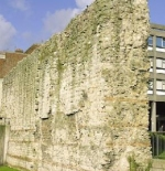 Remains of Roman Wall near the Tower of London