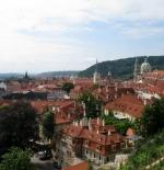 جانب مطل من قلعة براغ