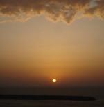 غروب الشمس على مدينة أثينا