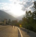 شروق الشمس على مدينة زيورخ