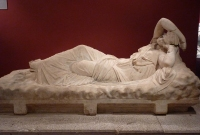 Sarcophagus lid in Antalya Museum