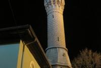 A Bursa mosque by night